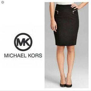 Michael Kors Black Skirt with Gold Zippers - NWOT!